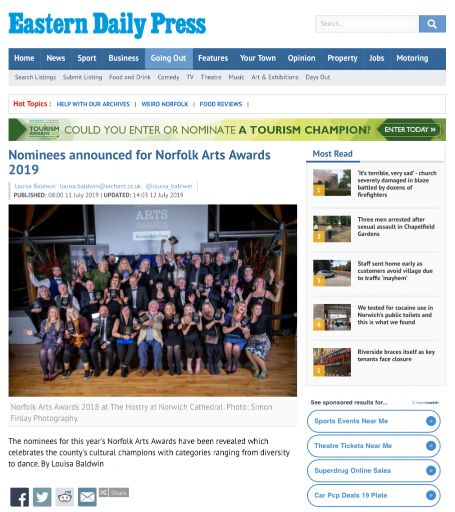 EDP Norfolk Arts Awards Nominees