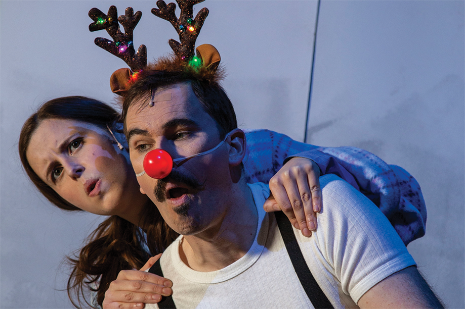 Emily and Alan the reindeer